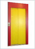 Standard landing door in colours customized to the customer's request